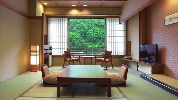 【山側】和室10畳+広縁+檜の内湯<禁煙>