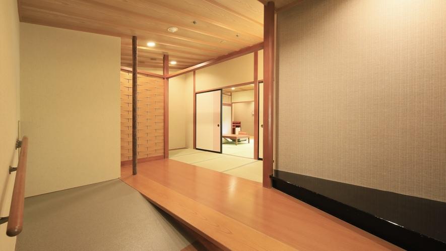 【山側 和洋室】広々とした玄関