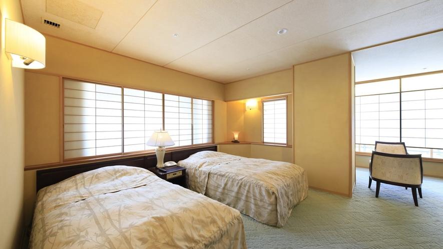 【ロイヤルスイート】特別な時間を過ごすのにふさわしい独立したツインベッドルームをご用意。