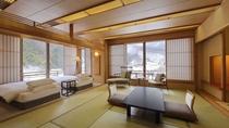 【川側和洋室】景観を楽しみながらゆったり寛げる客室