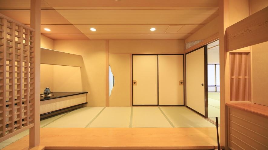 【ロイヤルスイート】和の趣を大切にした客室玄関