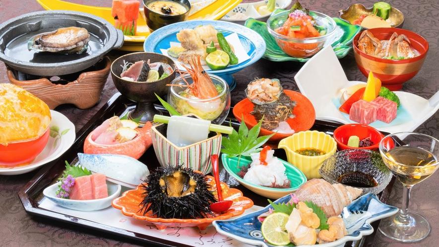 【夕食】お刺身九重と特選山形牛ステーキ会席 ※イメージ