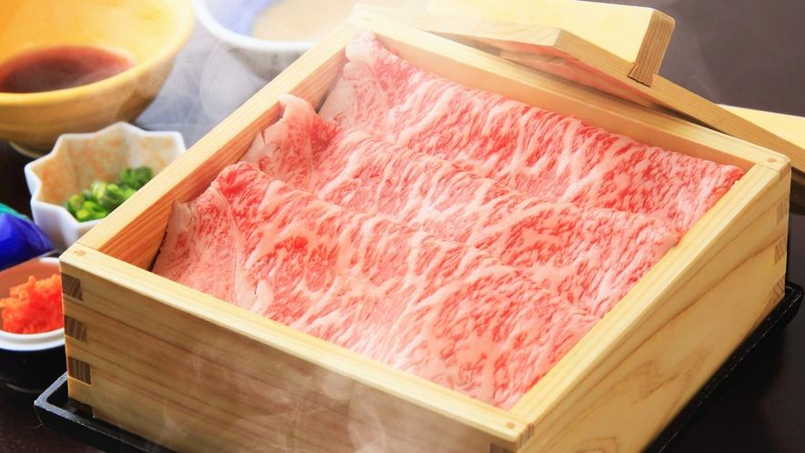 【夕食】山形牛温泉蒸し