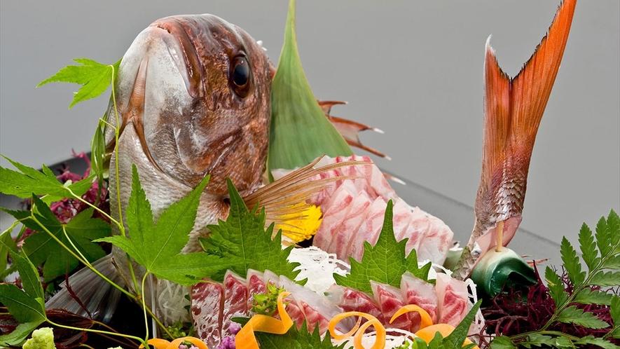 【追加料理】真鯛姿盛りお造り