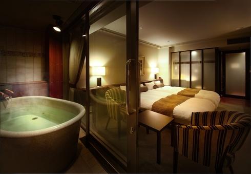 【露天風呂付客室】〜星空の歌フロア(5階)〜『楾』(洋室)