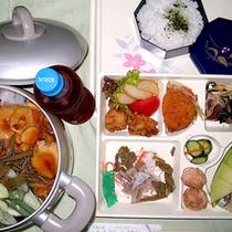 *お弁当+きりたんぽ鍋一例