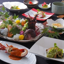 和食とフレンチのコラボ創作料理 彩