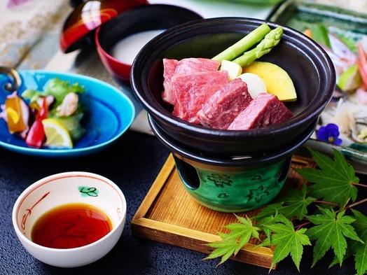【和牛づくし会席】 陶板ステーキ+握り寿司+鍋で特選和牛を堪能♪