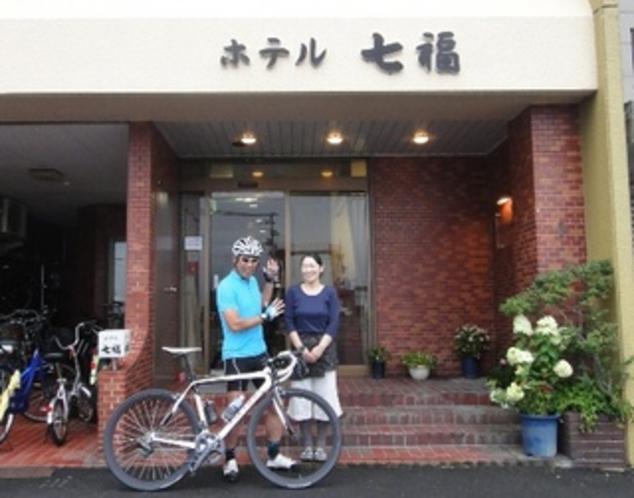 サイクリングのお客様も大歓迎です♪