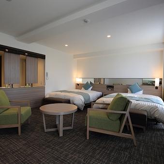 【禁煙】ファミリールーム 1600ベッド2台の広〜いお部屋