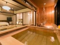 半露天風呂付き和洋室「蘭」3