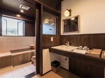 【半露天風呂付きスイートルーム】嬉野温泉の源泉が楽しめる車椅子ユーザーも想定した作り