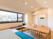 【半露天風呂付きスイートルーム】2部屋をコネクティングした一番広い間取りで贅沢なひと時を