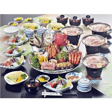 《皿鉢 料理》+《四万十ポーク陶板焼》  特製の醤油タレで お愉しみプラン