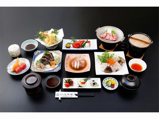 ■雅会席■ 料理長厳選の食材を贅沢に使用 ‐クエ・伊勢海老・国産牛・カツオ‐