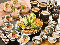 皿鉢料理+ブリしゃぶ