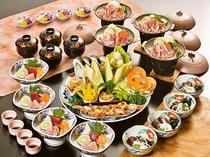 皿鉢料理+四万十ポーク陶板
