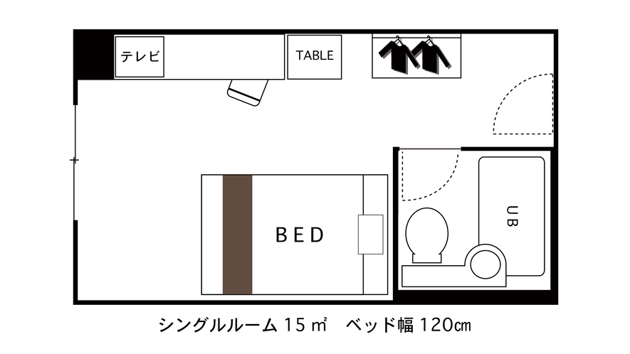 シングルルーム 間取り図