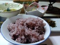 【ご夕食】古代黒米ご飯