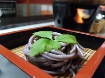 【ご夕食】古代黒米うどん