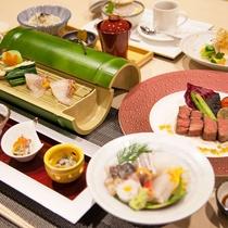 【たくみ会席】岡山県のブランド千屋牛をはじめ、岡山県内の食材を贅沢に使用しています(一例)