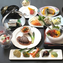【夕食一例】瀬戸内の魚介・吉備高原の旬の味覚をご賞味ください(夏)