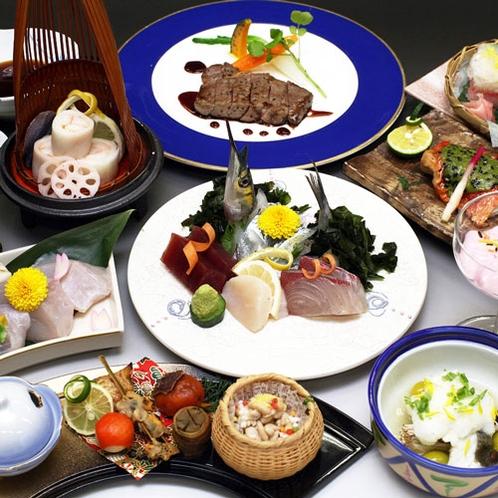 【夕食一例】瀬戸内の魚介・吉備高原の旬の味覚をご賞味ください(冬)