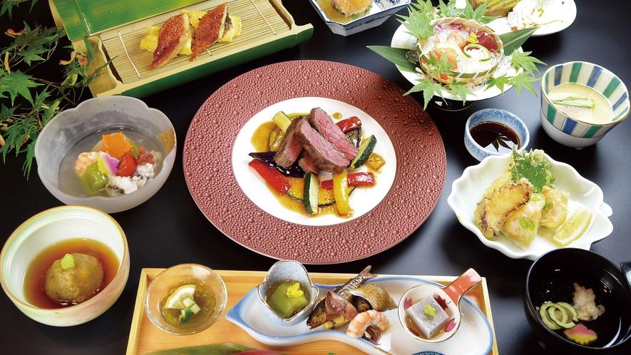 【料理】2021夏のおすすめ会席(ステーキ)