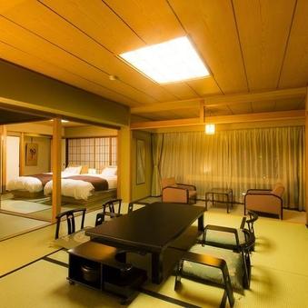 本館 二間和洋室(10畳+ツインベッドタイプ)【禁煙】