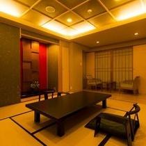 本館・菊の時季フロア「菊万葉」(内風呂タイプ)の和室イメージ