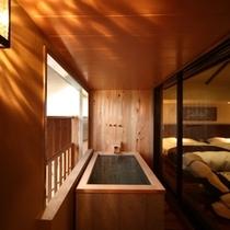 ロイヤルフロア菊万葉 メゾネットタイプの半露天風呂