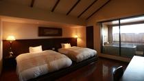 ☆本館・スパ・スイートルーム「菊万葉」(半露天風呂付)のベッドルームイメージ