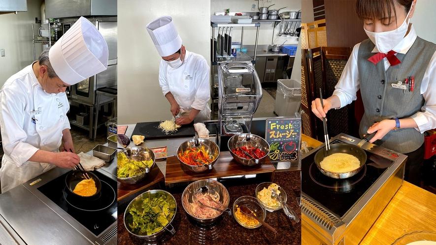 30種類以上の和洋フードが楽しめる朝食ブッフェ