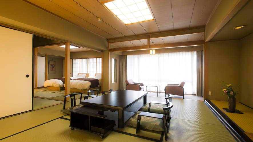 ☆本館・二間和洋室の客室一例