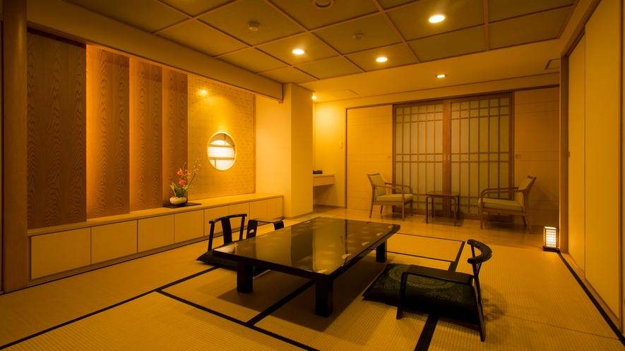 ☆本館・スパ・スイートルーム「菊万葉」(半露天風呂付)和室一例