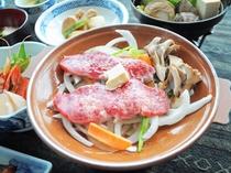 【ご夕食一例】牛肉陶板焼