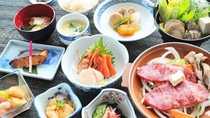 【竹膳】旬の食材をいかした手作り会席膳です。
