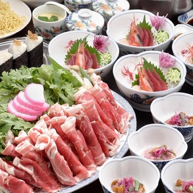 【2食付・フラヌイ鍋プラン】夕食はかみふらのポークのしゃぶしゃぶ鍋♪【禁煙】