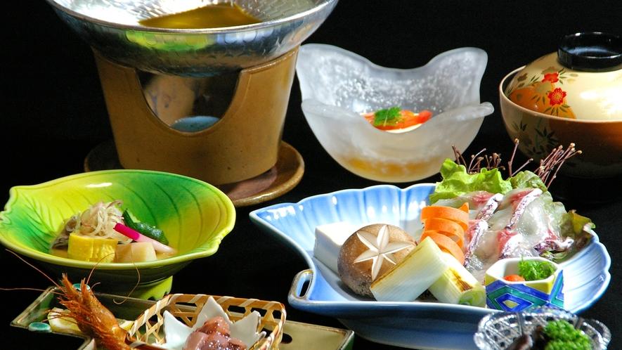 *ぷりっぷりの鯛をしゃぶしゃぶで美味しくいただく!(料理一例)
