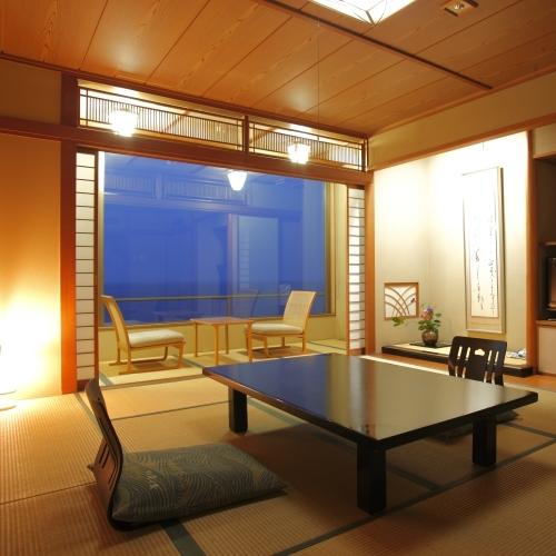 海側和室夜
