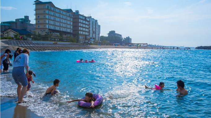 ◆夏休み☆家族旅行◆お子様歓迎花火付〜海水浴場へ徒歩40歩♪グルメなお客様に『活鮑の踊り焼き会席』
