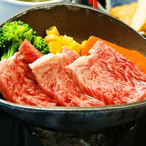 【宮崎牛(80グラム)陶板焼】ジューシーな宮崎牛をアツアツ陶板焼きで♪