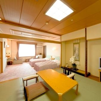 【海側】スイート・特別室(和8畳+洋ツイン)/無料Wi-Fi