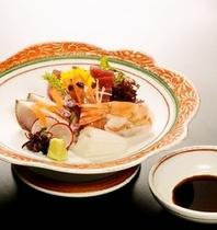 【和食会席一例】刺身三種盛