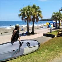 青島海岸 サーフィン