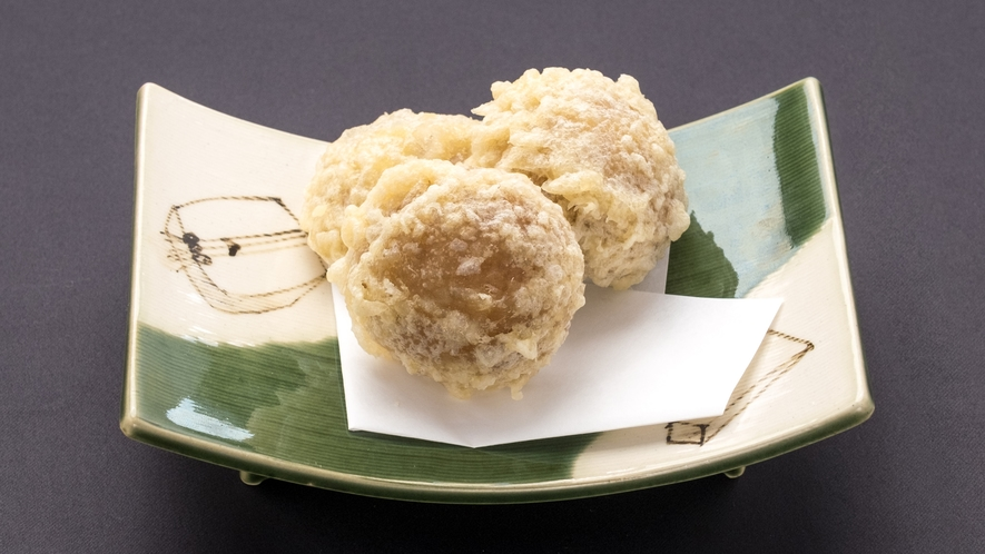【一品料理】まんじゅうの天ぷら