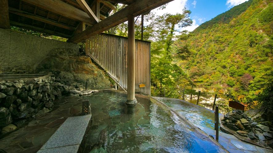 【四季舞台-たな田】四季折々の絶景を望む開放的な露天風呂