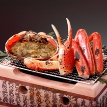 松葉蟹の焼き蟹