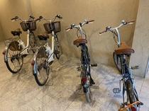 ◆電動レンタサイクル 計4台ご用意しており2時間まで無料でご利用可能。手続きも簡単で安心。