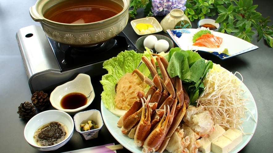 ☆通年で召し上がれるカニ鍋コース☆